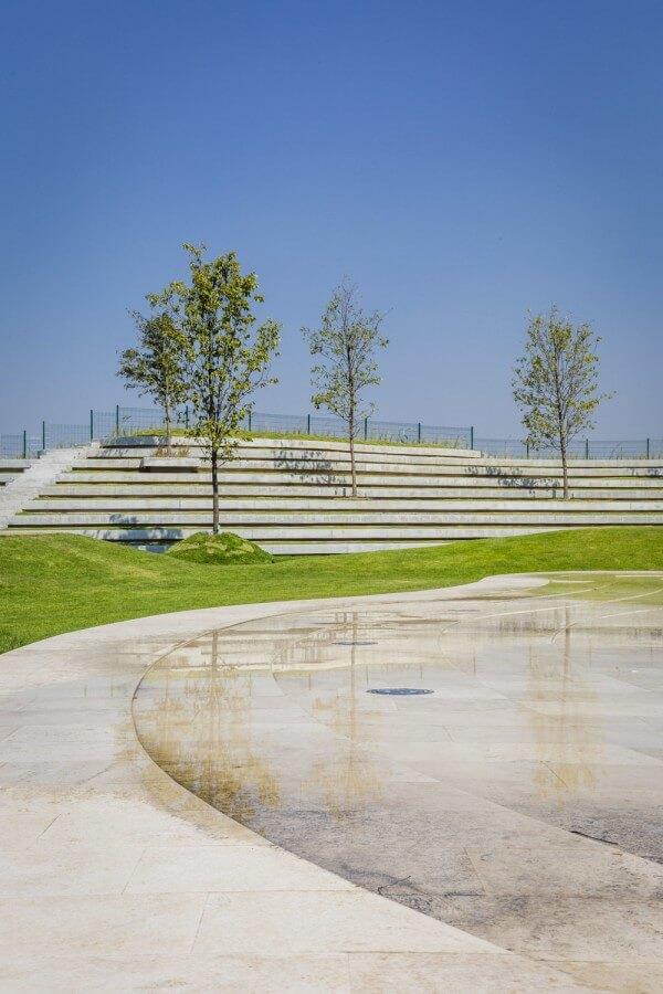 El nuevo diseño del Parque Plaza Satélite ofrece espacios al aire libre